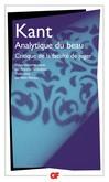 Analytique du beau -  Kant -  - 9782081211544